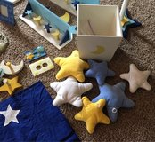 Moon and stars bedding decor nursery in Camp Lejeune, North Carolina