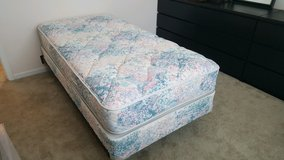 Excellent condition! Twin Mattress Set with frame in Batavia, Illinois