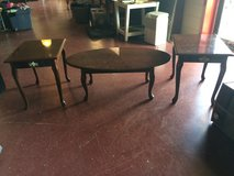 Matching 3 pc Coffee and 2 End Table Set in Fort Polk, Louisiana