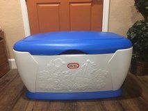 EXTRA LARGE Little Tikes blue and white toy box in Fairfield, California