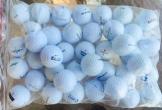 100 assorted various brand names used golf balls near mint condition in Oswego, Illinois
