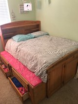 Full size Captains bed with pull out twin size trundle + storage. Bunk - $200 in Fairfield, California