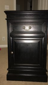Black night stand in Fort Campbell, Kentucky