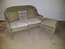 Martha Stewart / 2 Piece Wicker Sofa & Side Table Patio Set in Fort Campbell, Kentucky