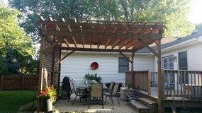 Wood Pergola in Chicago, Illinois