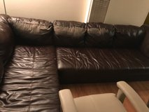 Brown leather sectional couches in Fairfield, California