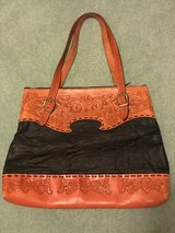 Purse : handmade, leather, new, large in Glendale Heights, Illinois