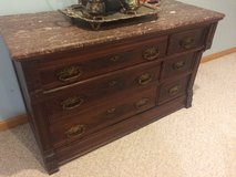 Antique with Solid Marble Top in Naperville, Illinois