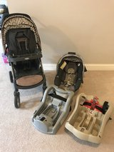 Graco travel system stroller, car seat and extra base in Naperville, Illinois
