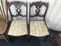 Antique Mahogany Rose back Chairs in Camp Lejeune, North Carolina