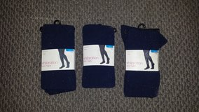 New in Package!   Girl's Navy Blue Opaque Tights (3 available) in Glendale Heights, Illinois