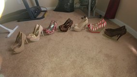 All size 7 1/2 Name Brand Shoes in Cary, North Carolina