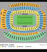 Bears vs Browns 8/31 - 4 tickets plus parking in Chicago, Illinois