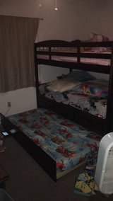 Cherry Wood Bunk Bed in Barstow, California