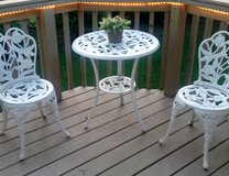 Outdoor Table, Chairs & Bench 4 pc set in Tinley Park, Illinois