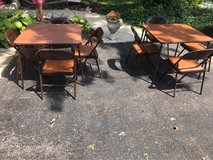 2 card table and chair sets in Chicago, Illinois