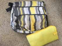 Grey and yellow Baby Innovations diaper bag in Pleasant View, Tennessee