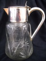 Sliver German Etched Grapevine Crystal Carafe Decanter & Wine-Cooler in Lake Elsinore, California