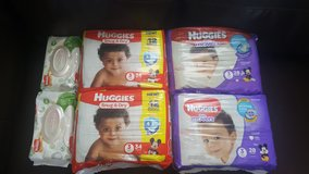 Hugies size 3 & baby wipes in 29 Palms, California