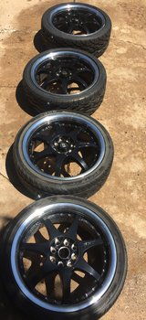 Motech Racing Rims FF7 and 205/40/R17 tires in Lawton, Oklahoma