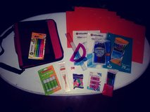 Binder with school supplies in The Woodlands, Texas