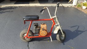 Old school mini bike in Shorewood, Illinois
