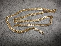 "Men's Gold over Silver 925 Anchor Chain Necklace 20.5""MM 6.25 in Lake Elsinore, California"