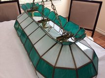 Tiffany style pool table ceiling lamp in Converse, Texas