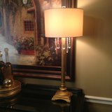 Beautiful pair of lamps with crystals in Naperville, Illinois