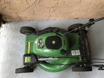 John Deere self propelled mower in Camp Pendleton, California