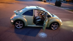 2000 Cyber Green VW Beetle. A  Single Marines Car. in Camp Pendleton, California