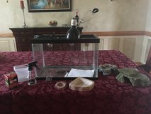10 gallon reptile tank and supplies in Naperville, Illinois