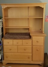 Changing Table Dresser and Hutch in Naperville, Illinois