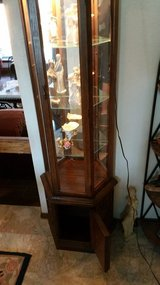 Beautiful Curio Cabinet w/light - $126 in Lawton, Oklahoma