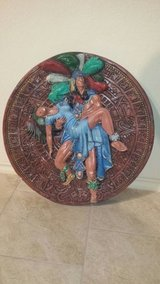21 inch Ceramic Aztec Warrior carrying woman in Spring, Texas