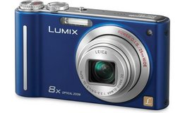 DMC-ZR1 blue point and shoot Panasonic Leica camera; made in Japan in Okinawa, Japan