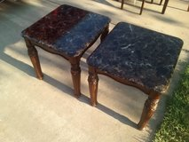 Ashley Furniture End tables (Imitation Marble Top) in Perry, Georgia