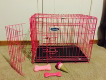 Medium pink dog cage and extras in Fort Campbell, Kentucky