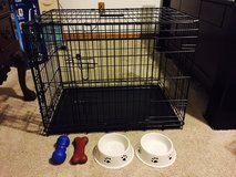Large dog cage and extras in Fort Campbell, Kentucky