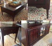 Broyhill coffee table, end table and tv cabinet in Beaufort, South Carolina