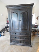 "NEW PRICE!!!!!  TALL TV Armoire - 83"" by 49 1/2"" by 31""  Dark Brown Finish - 3 Drawers in Oswego, Illinois"