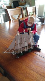 Possible Dreams Santa building boat 2 peice set in Wheaton, Illinois