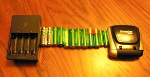 Set of 10 - New AA\AAA Rechargeable Batteries & 2 Chargers in Kingwood, Texas