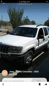 2002 Jeep Cherokee in 29 Palms, California
