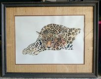 Framed Jaguar Watercolor in Fort Knox, Kentucky