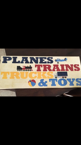 Baby room decor-trucks sign in Camp Pendleton, California