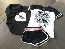 Justice White Sox Girl size 8-10 in Lockport, Illinois