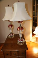 PAIR OF VINTAGE ART GLASS LAMPS.EXCELLENT CONDITION. BEAUTIFUL. MUST SEE. in Palatine, Illinois