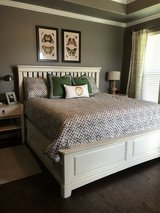 King bed and side tables in Kingwood, Texas