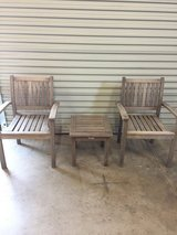 Hardwood Patio Chairs w/ Table in Fairfield, California